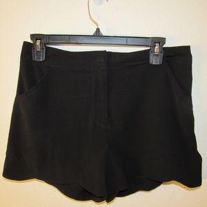 Necessary Clothing black scalloped dress shorts